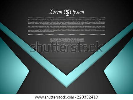 Vibrant corporate abstract background. Vector design - stock vector