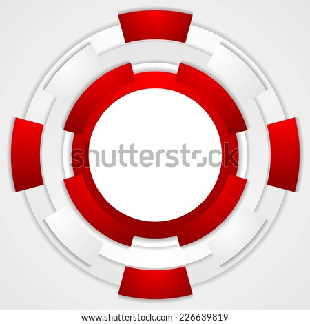 Vibrant corporate tech circles background. Vector design - stock vector