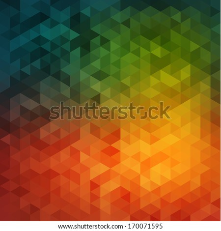 Vibrant mosaic background - stock vector