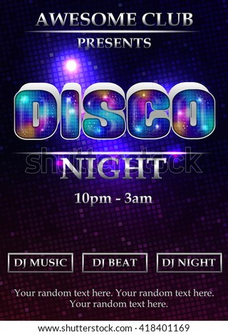 Night Disco Stock Photos RoyaltyFree Images  Vectors  Shutterstock