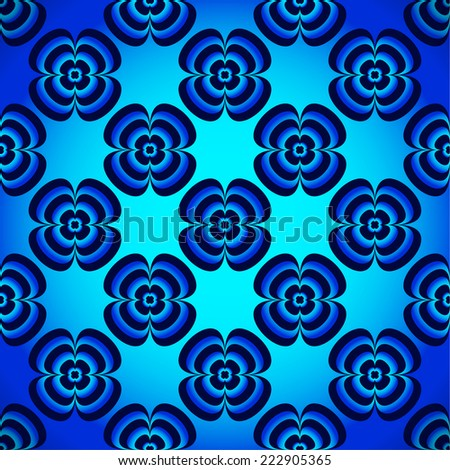 vibrant, surreal pattern - stock vector
