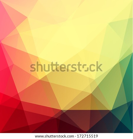 Vibrant triangular background - eps10 vector - stock vector