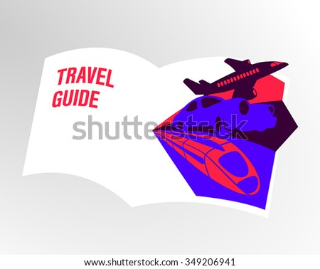 Vibrant vector illustration travel guide