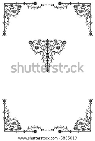 Victorian Design Elements victorian decorative design elements stock vector 5832688