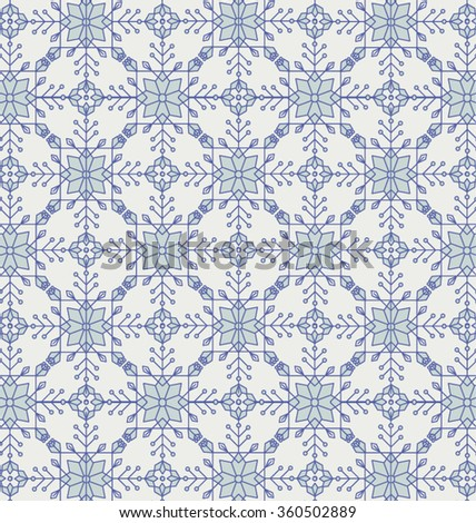 VICTORIAN TILE. Blue pattern. Vintage style geometric background.Vector illustration file. That square design has the ability to be repeated or tiled without visible seams. - stock vector