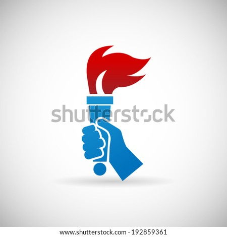 Victory Flame Symbol Hand Hold Fire Torch Icon Design Template Vector Illustration & Torch Hand Stock Images Royalty-Free Images u0026 Vectors | Shutterstock azcodes.com