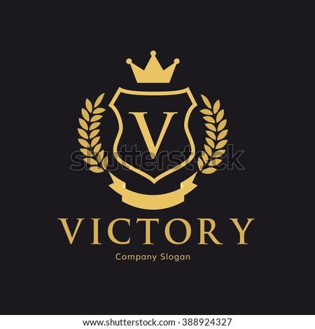 victory logocrest logovector logo template stock vector 388924327