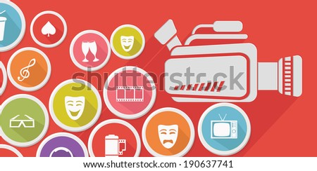 Video and entertainment,Colorful version,vector - stock vector