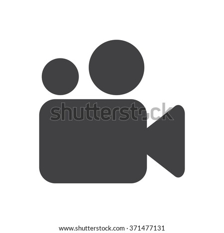 Video camera Icon JPG, Video camera Icon Graphic, Video camera Icon Picture, Video camera Icon EPS,  Video camera Icon JPEG, Video camera Icon Art, Video camera Icon, Video camera Icon Vector - stock vector