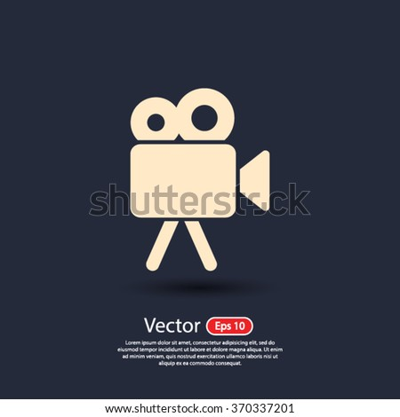 video camera  icon. One of set web icons - stock vector