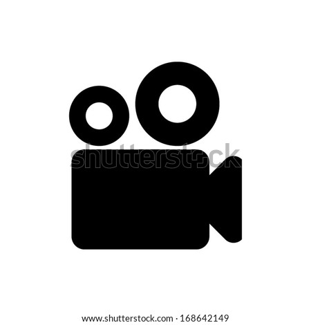 Video camera icon vector - stock vector