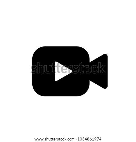 Videocamera Icon Vectorcinemafilmmovievideo Symbol Web Mobile Stock