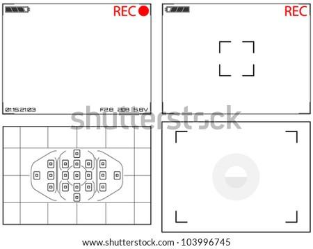 Video Camera Viewfinder Displays - stock vector