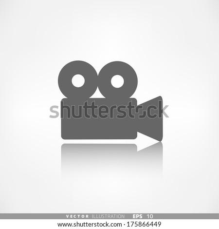 Video camera web icon. Cinema symbol. - stock vector