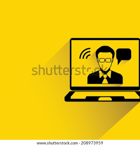 video conference, business consulting - stock vector