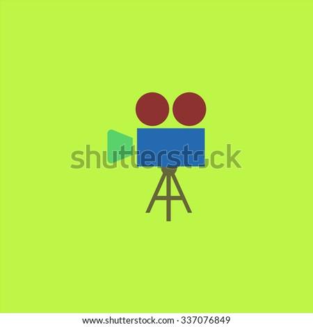 Video film camera. Icon Vector. Icon Picture. Icon Graphic. Icon Art. Icon JPG. Icon JPEG. Icon EPS. Icon AI. Icon FLAT. Icon SIMPLE - stock vector