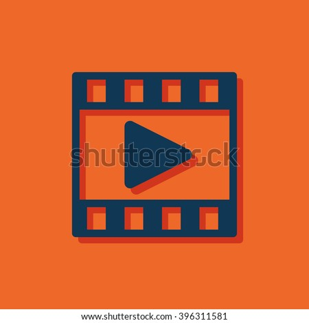 video film vector icon - stock vector