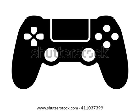 Video game controller / gamepad flat icon for apps and websites - stock vector