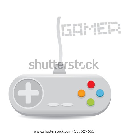 Video game Controller Icon. vector illustration. game pad or video game console icon - stock vector