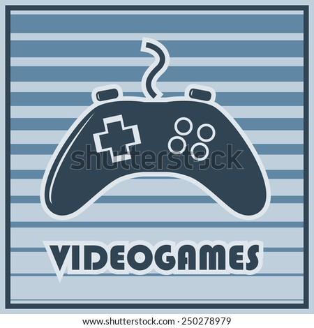 Video game controller illustration in vector EPS 10 format - stock vector