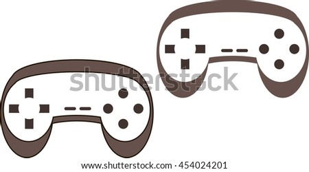 Video game controller in vector, game pad logo
