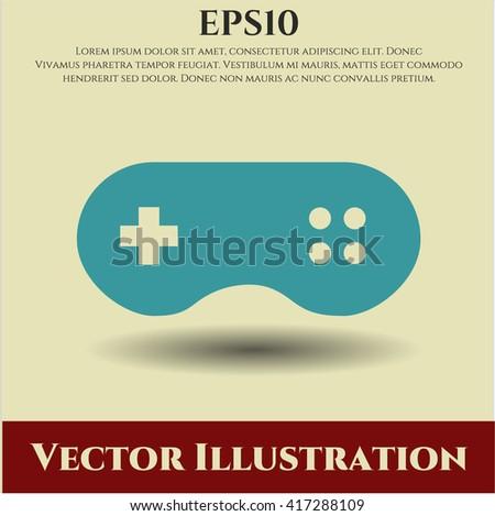 Video Game icon, Video Game icon vector, Video Game icon symbol, Video Game flat icon, Video Game icon eps, Video Game icon jpg, Video Game icon app, Video Game web icon, Video Game concept icon - stock vector