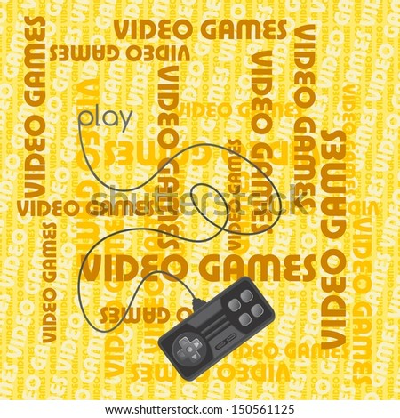 video game theme brown art page - stock vector