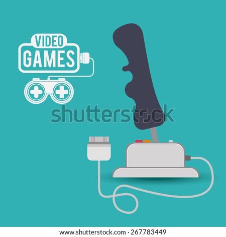 Video Games design over blue background, vector illustration - stock vector
