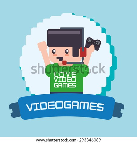 Video games digital design, vector illustration 10 eps graphic - stock vector