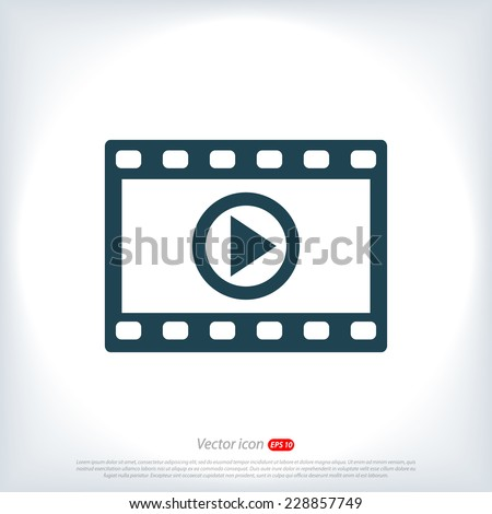 video icon - stock vector