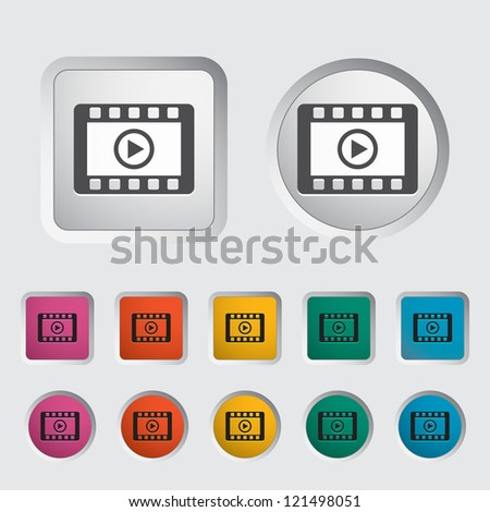Video icon. Vector illustration. - stock vector