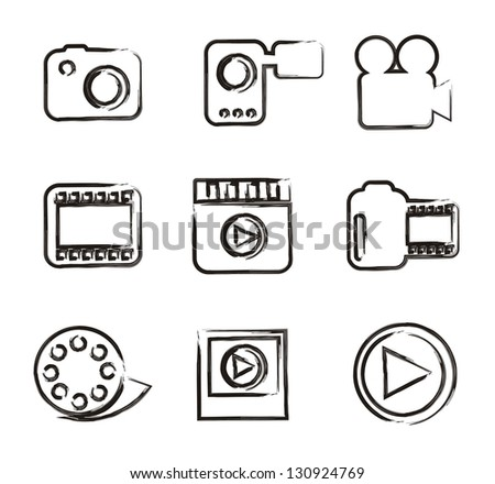 video icons over white background. vector illustration - stock vector