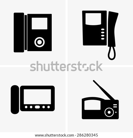 Video intercoms - stock vector