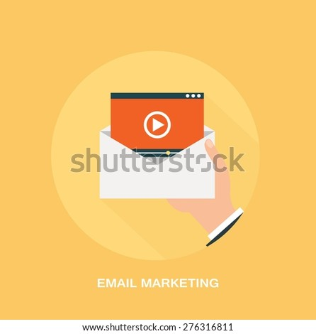 Video marketing and promotion concept - stock vector