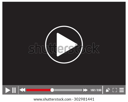 Video media player - stock vector