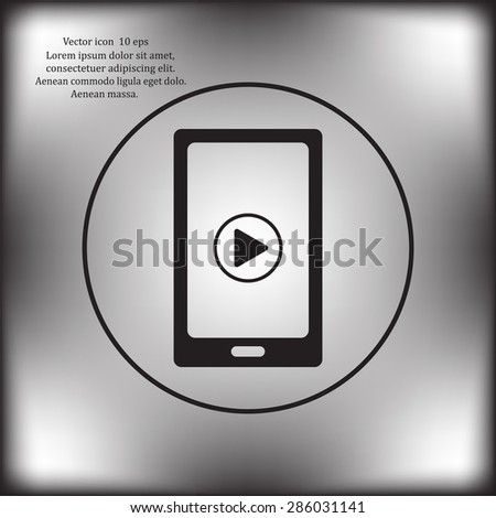 Video on mobile devices. EPS10 vector illustration
