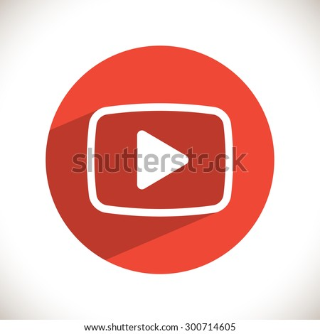 video  play icon. One of set web icons - stock vector