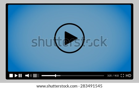 Video player for web. stock vector - stock vector