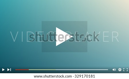 Video Player Interface, Video Hosting Services - stock vector