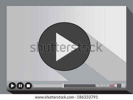 Video player media for web - stock vector
