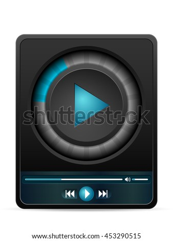 Video player on a white  background.