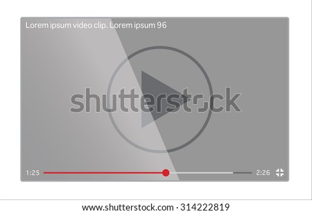 Video player on the screen - stock vector