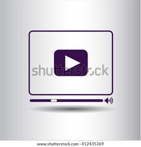 Video Player vector icon or symbol