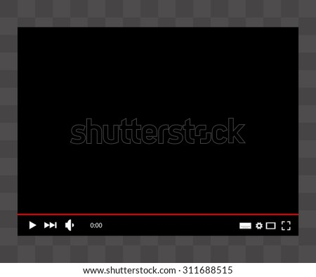 video player. vector illustration