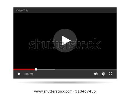 Video Player Vector illustration - stock vector