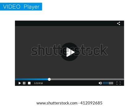 Video Player. Video player for web.Video Player mockup. Video Player eps10.Video Player skin. Video Player template of Video and audio Player. Video Player vector. Video Player for web and mobile apps - stock vector