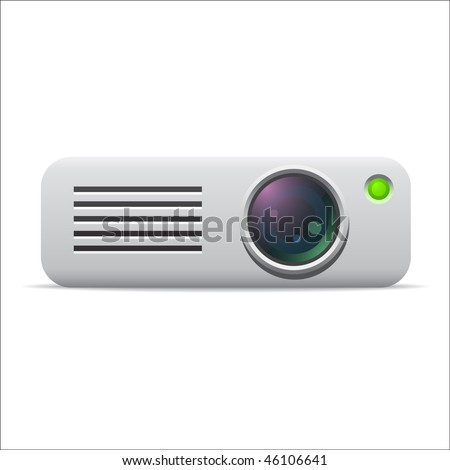 Video projector icon - stock vector