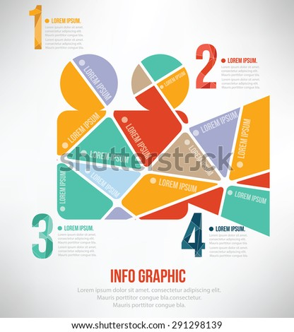 Video puzzle info graphic design,clean vector - stock vector