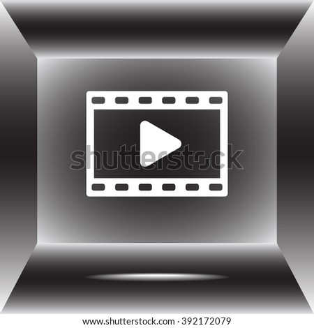 Video sign icon, vector illustration. Flat design style