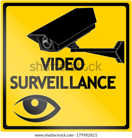Video surveillance - stock vector